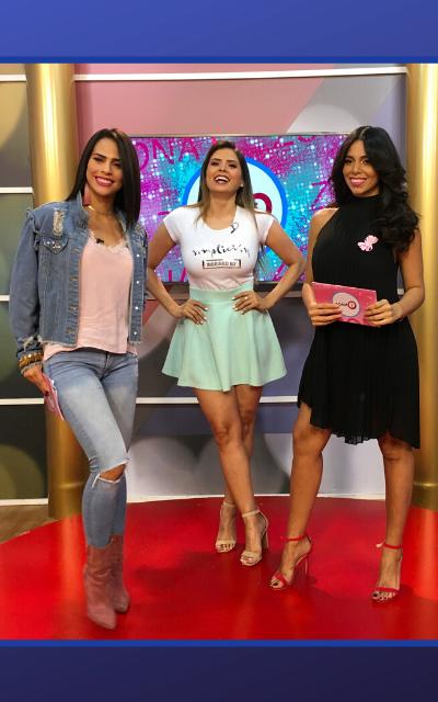 Daniela Marcano, Astrid Gallardo y Gloriber Briceño